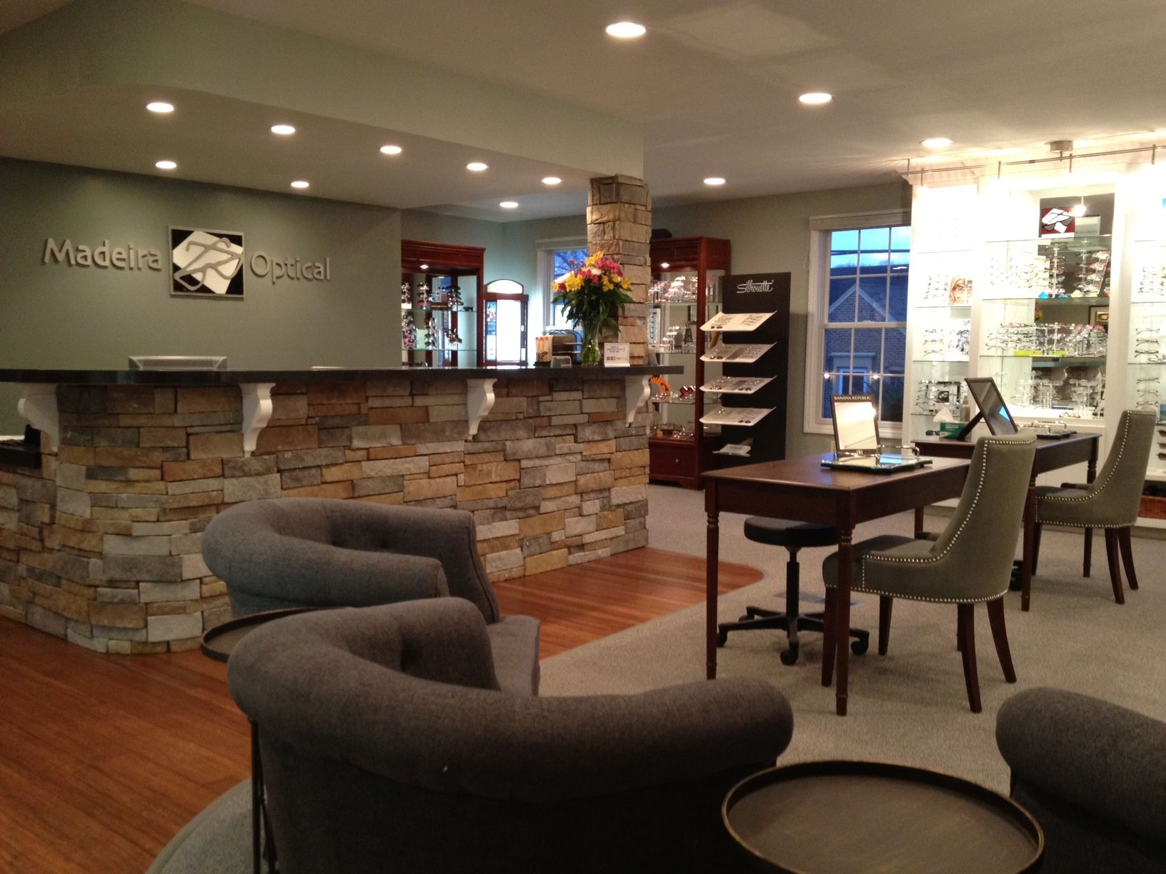 Our new optometry office and designer eyewear
