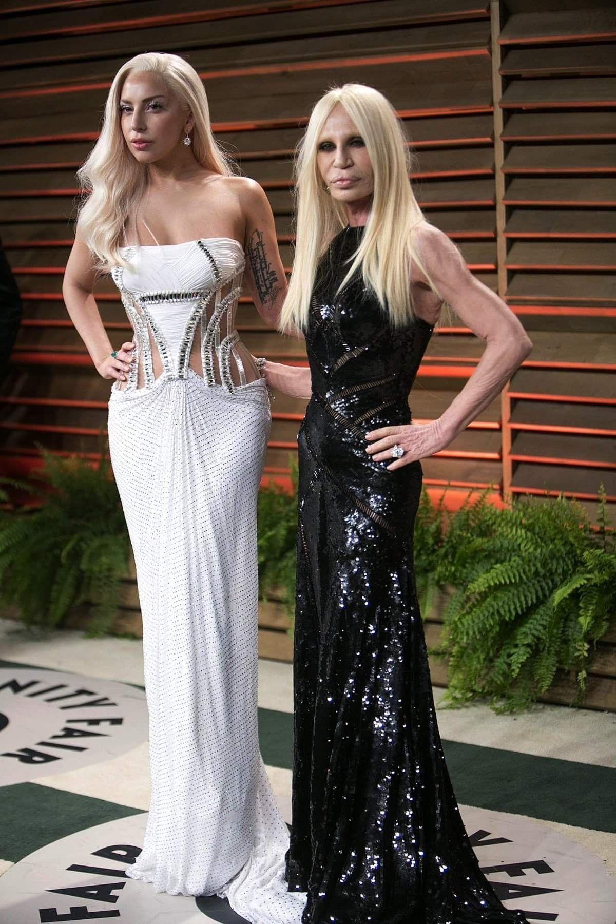 Donatella Versace Lady Gaga Lady Gaga Donatella Lady Gaga Lady