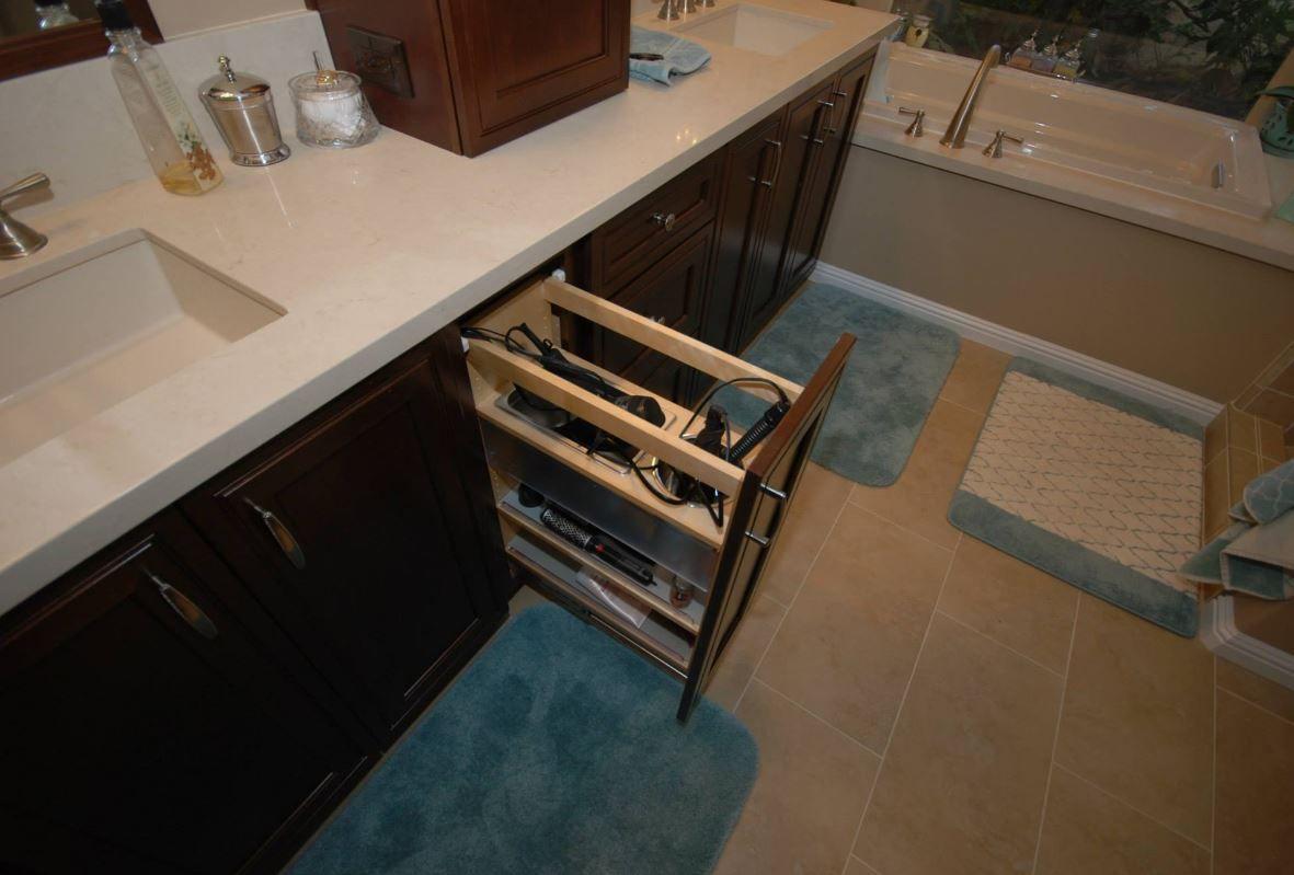 Kraftmaid Blow Dryer Storage Kitchen Cabinets In Bathroom