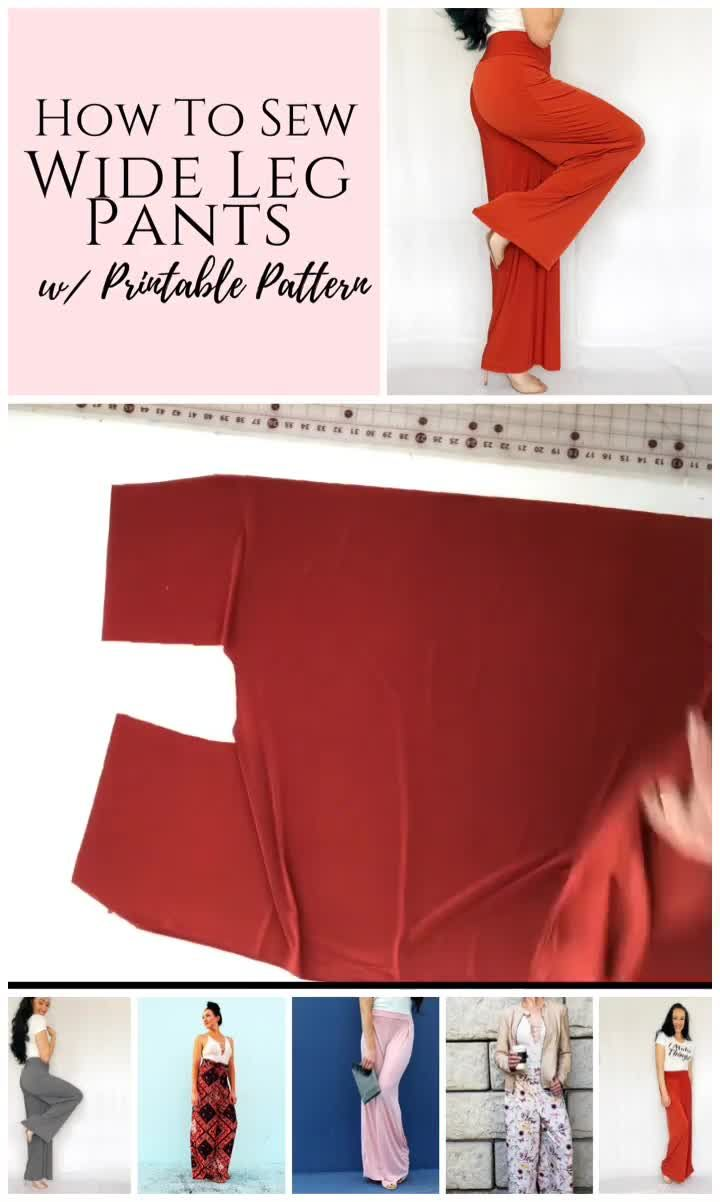 Photo of Printable Wide Leg Pants Sewing Pattern – Creative Fashion Blog