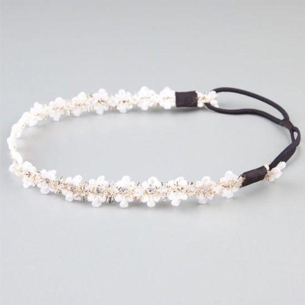 Full Tilt Rhinestone Flower Headband White One Size For Women 24385615001