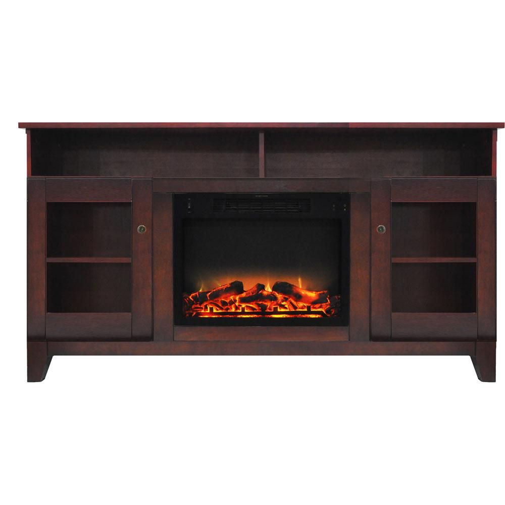 glenwood 59 in electric fireplace in cherry red with rh in pinterest com