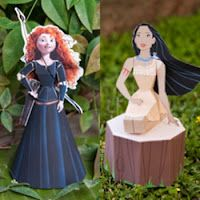 3D cut out Disney characters - Merida (Brave) & Pocahuntas