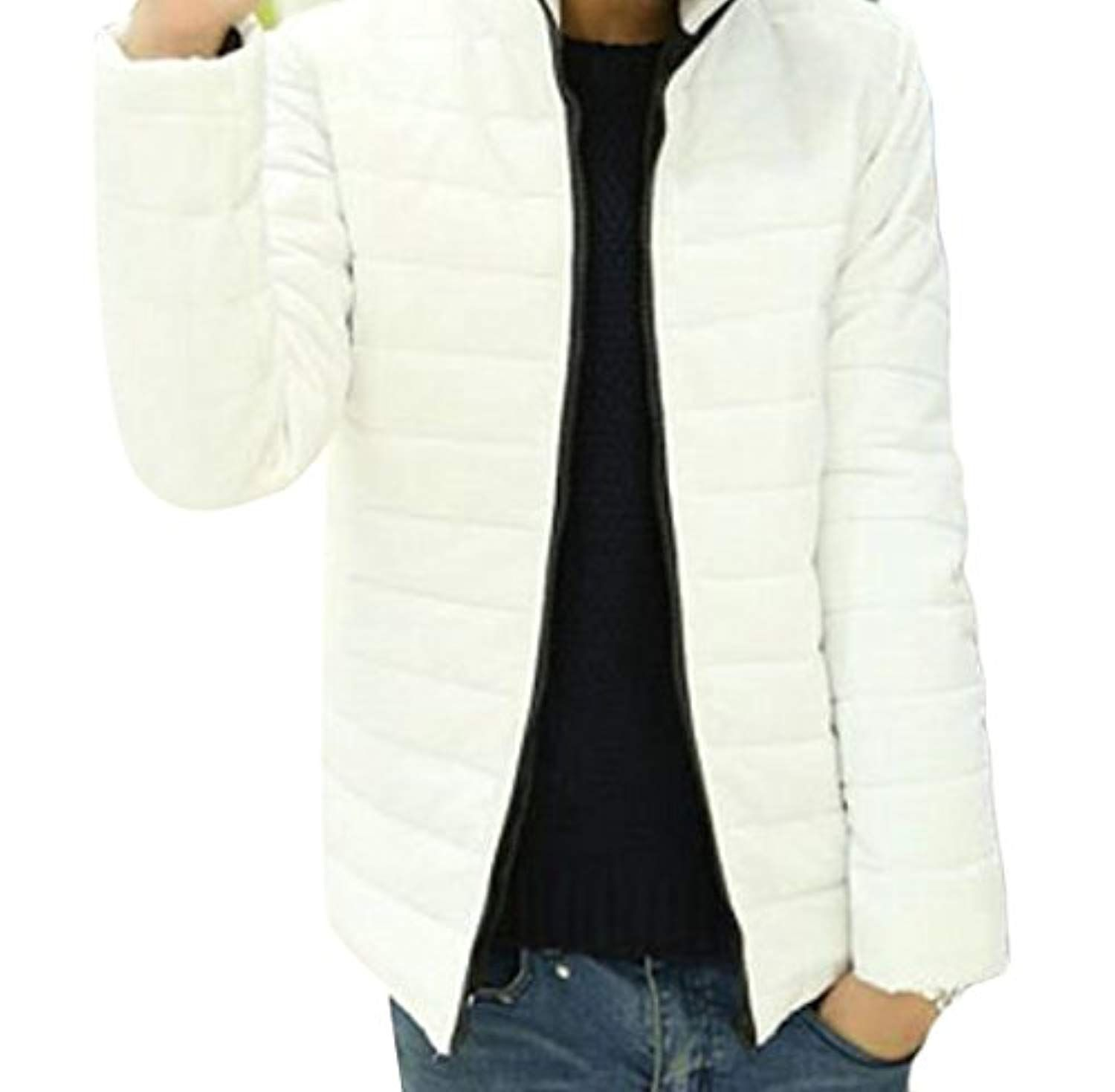 Plus Size Casual Full Zip Solid Slim Fit Puffer Jacket Down Coat Outwear Want Additional Info Click On The Image T Parka Jacket Jackets Plus Size Casual [ 1470 x 1500 Pixel ]