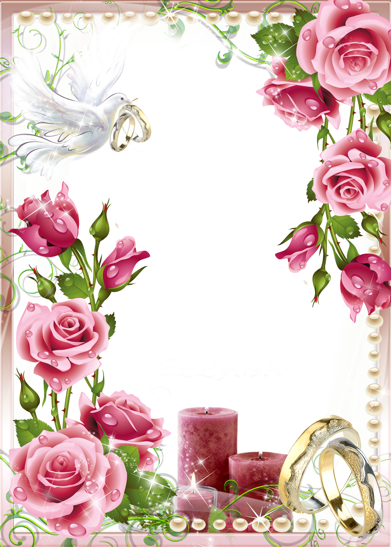 pink wedding photo