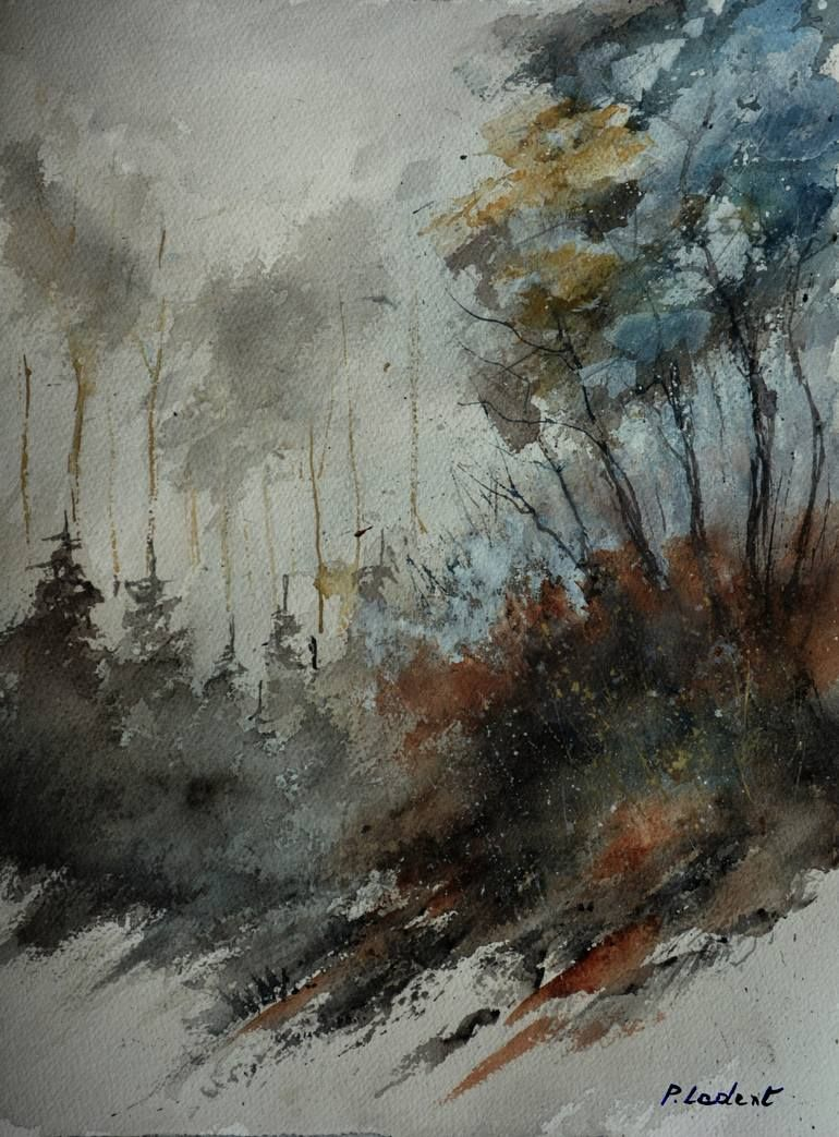 Buy November In The Wood Watercolor A Watercolor Painting On