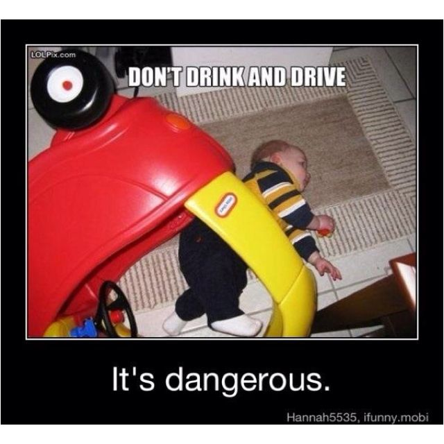 Don T Drink And Drive Always Have A Designated Driver Dont Drink And Drive Funny Babies Freaking Hilarious