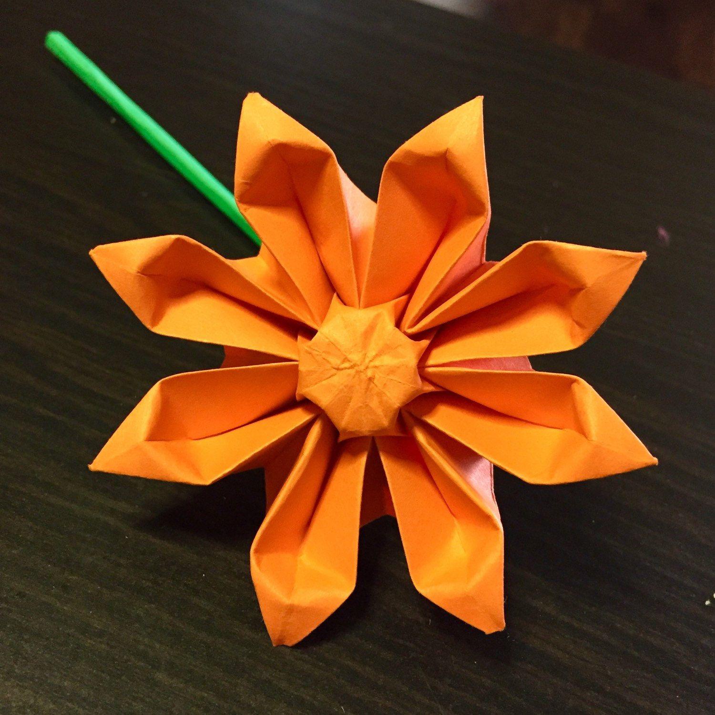 Gerbera Gerbera Daisy Origami Gerbera Paper Gerbera Etsy In 2020 Origami Origami Design Origami Love