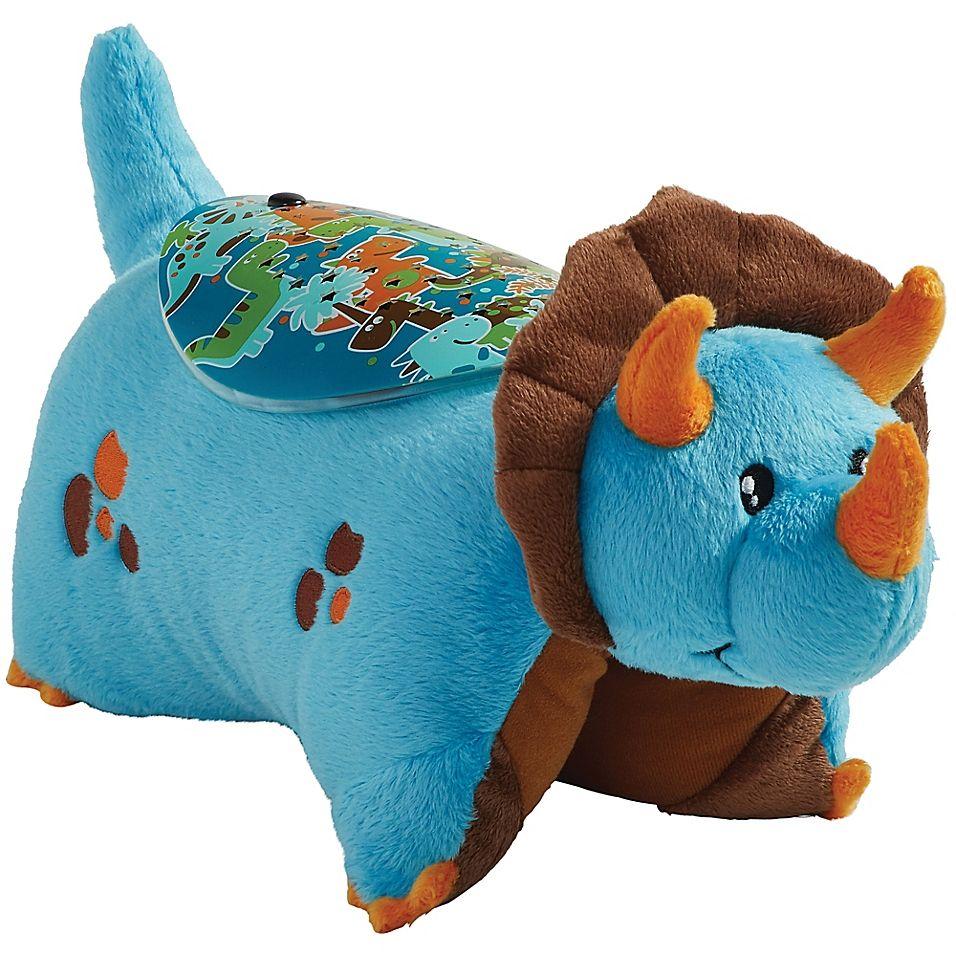 Pillow Pets Blue Dinosaur Sleeptime Lite Night Light Pillow Pet