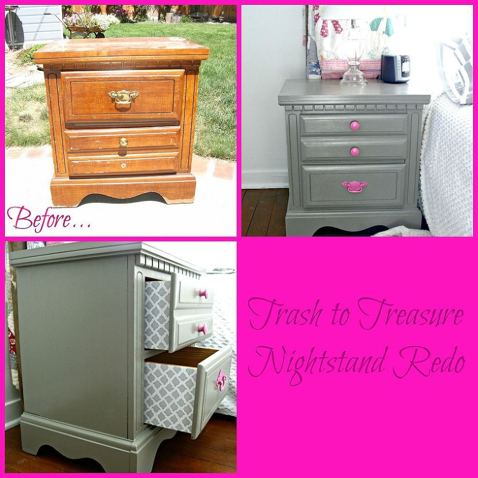 Trash To Treasure Nightstand Redo Diy Furniture Redo Nightstand Redo Redo Furniture