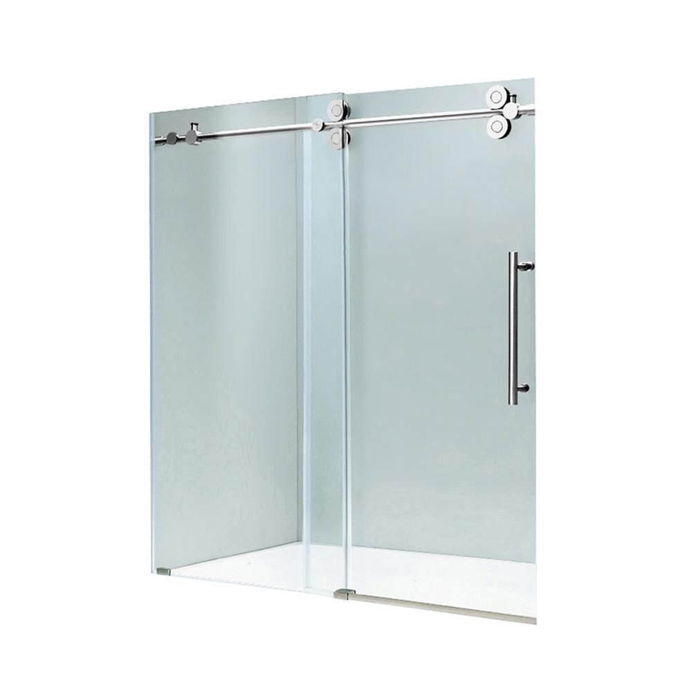 Vigo Industries Vg6041 Frameless Tempered Glass Sliding Shower Door ...