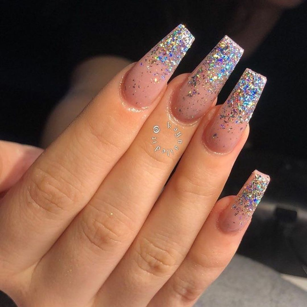 50+ TRENDY GLITTER COFFIN NAILS STYLE DESIGNS INSPIRED YOU IN FALL SEASON