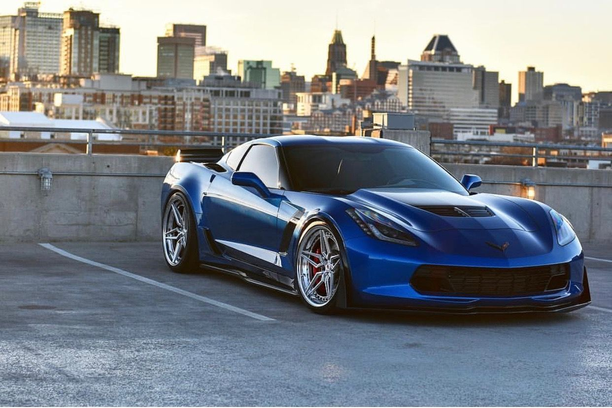 Chevrolet Corvette C7 Z06 Painted In Laguna Blue W A Set Of