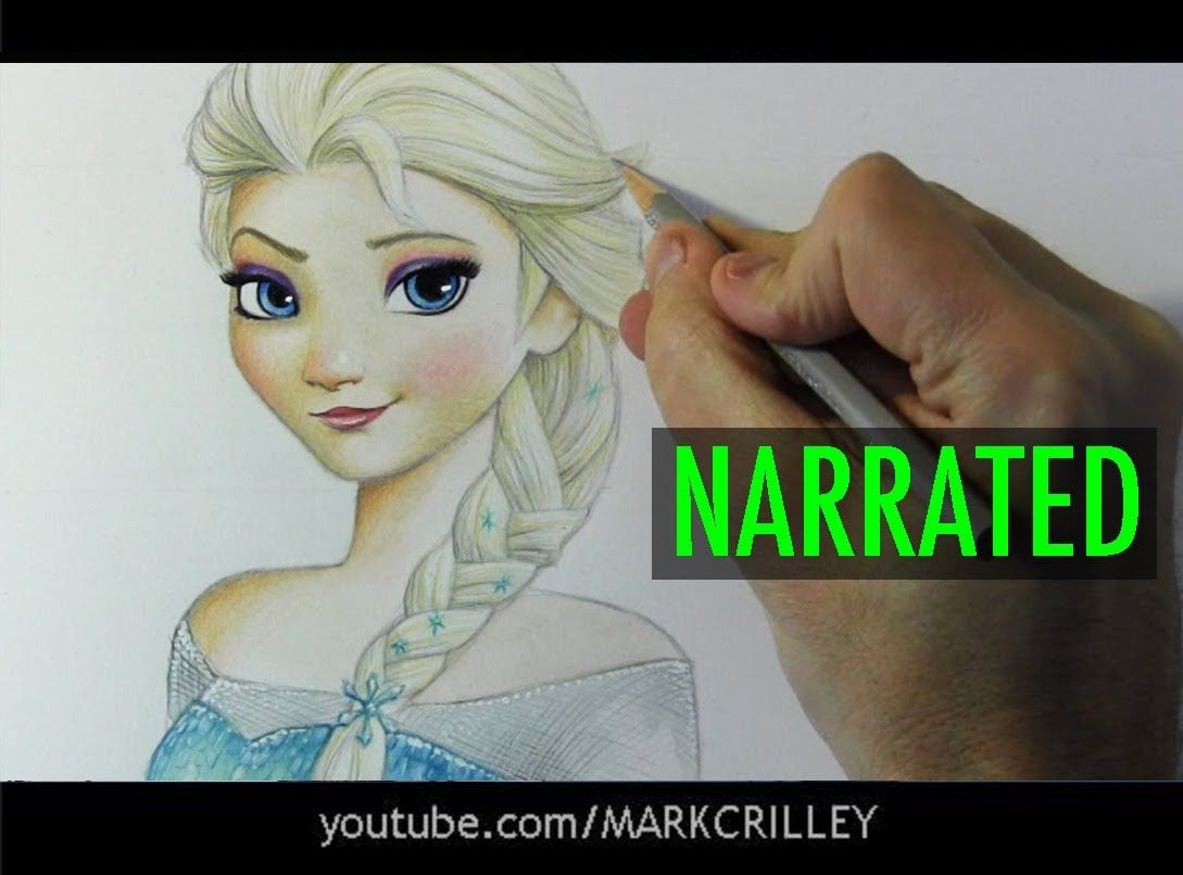 How To Draw Elsa From Frozen Narrated Step By Step Goruntuler Ile Cizim Resim Desenler