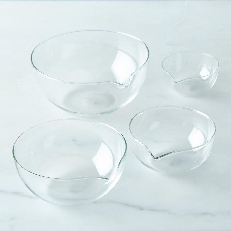 Borosilicate Glass Nesting Prep Bowls Set Of 4 Borosilicate Glass Glass Kitchenware Borosilicate