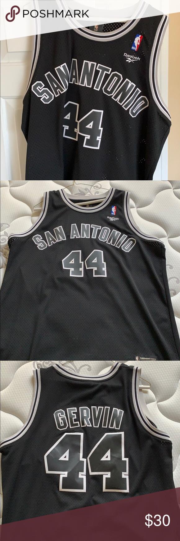 super cheap 3df39 850f2 George Gervin Throwback NBA Jersey San Antonio Gervin Jersey ...