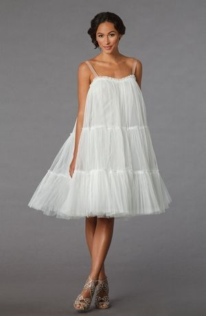 Lanvin Paris Sweetheart Cocktail Length Gown In Tulle Bridal Gown Styles Bridal Gowns Gowns