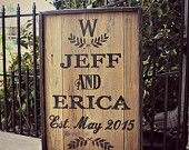 Hand Painted Rustic Wood Vintage Style CUSTOMIZED Wedding/Anniversary Pallet Sign