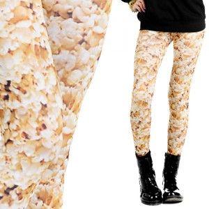 Leginsy Z Nadrukiem Popcorn Geek Fashion Fashion Style