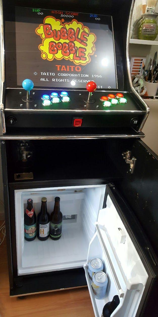 fridge bartop arcade arcade diy arcade room gamer room diy rh pinterest com