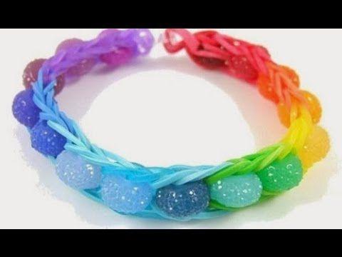 NEW DESIGN, How to Make The Double Rhombus, Rainbow Loom, Bracelet.