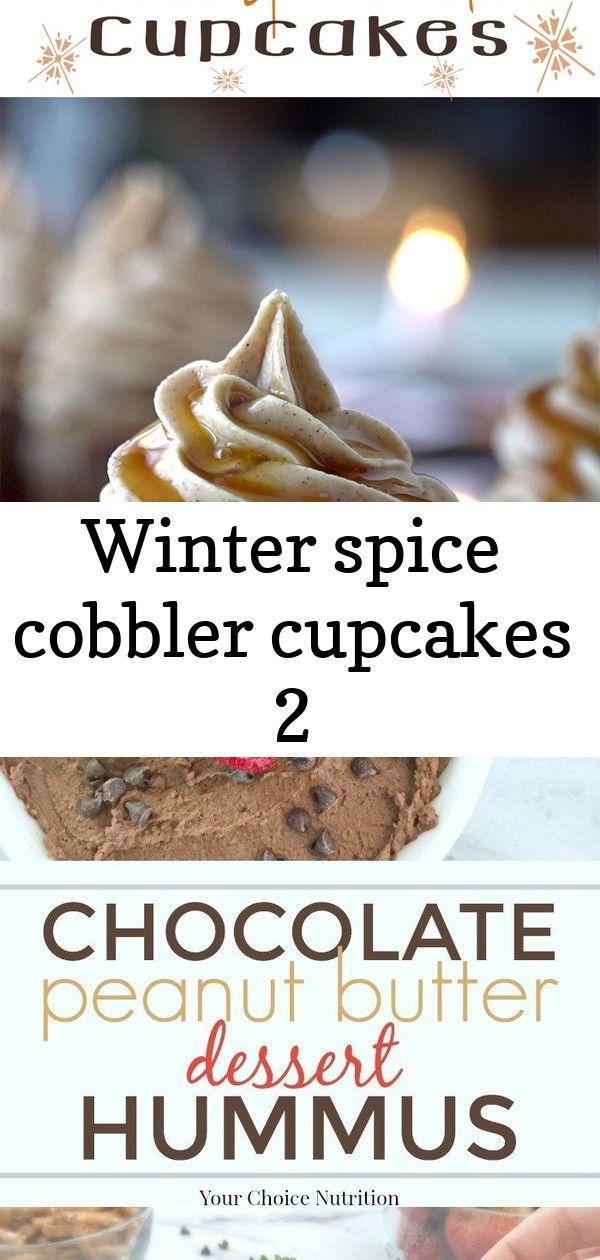 Winter spice cobbler cupcakes 2 #desserthummus