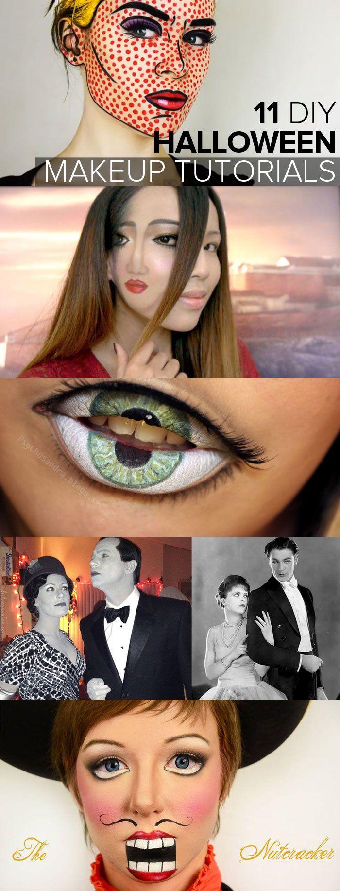 11 diy halloween makeup ideas | pinterest | diy halloween makeup