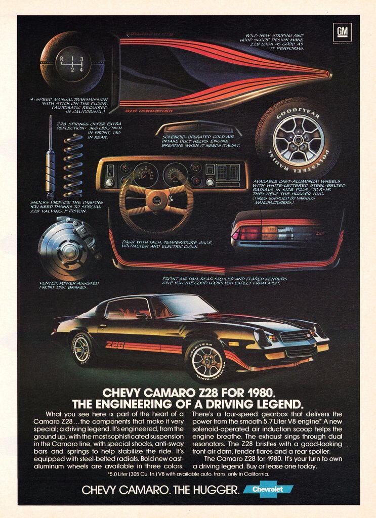 1980 Chevrolet Camaro Z28 Chevrolet Camaro Camaro Chevy Camaro Z28