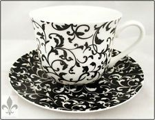 Venetian Breakfast Cup & Saucer Large Cup Saucer Hand Decorated in the UK
