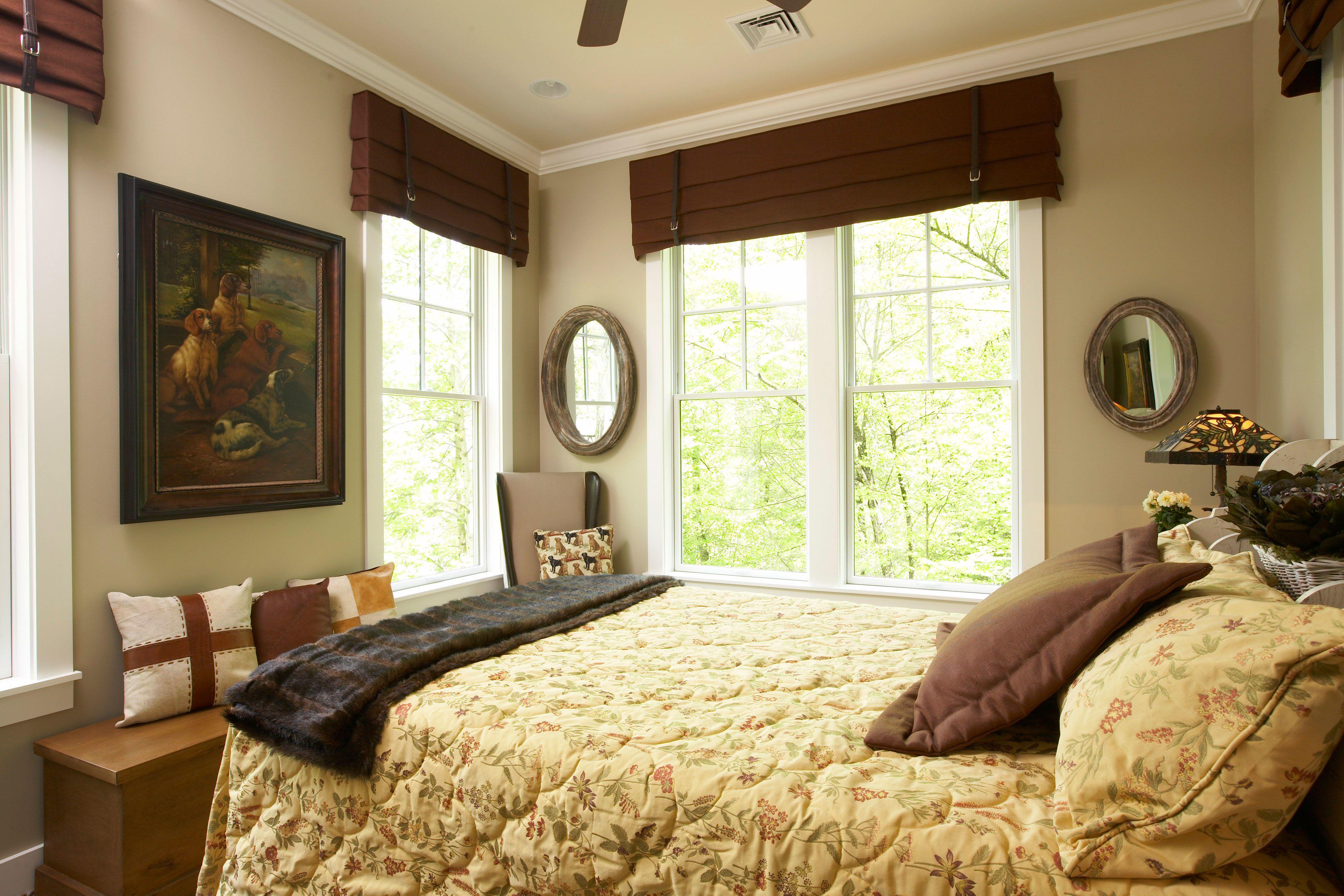Bedroom window ideas  cornice  window ideas  pinterest  bedroom window treatments