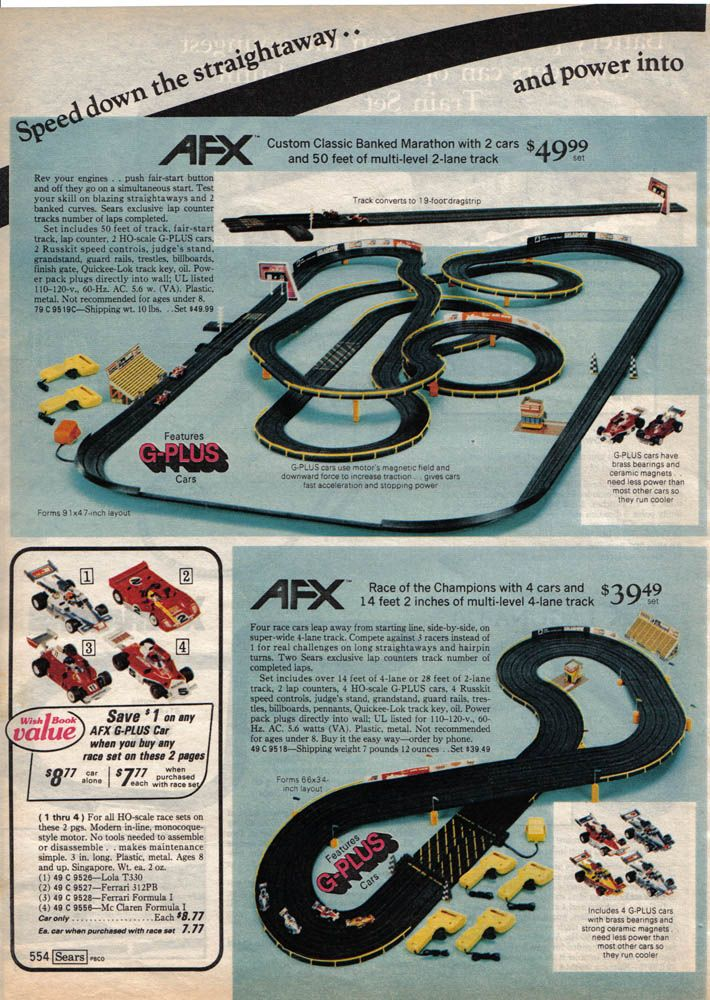 i use to dream about this afx set in the sears catalog i never got rh pinterest com
