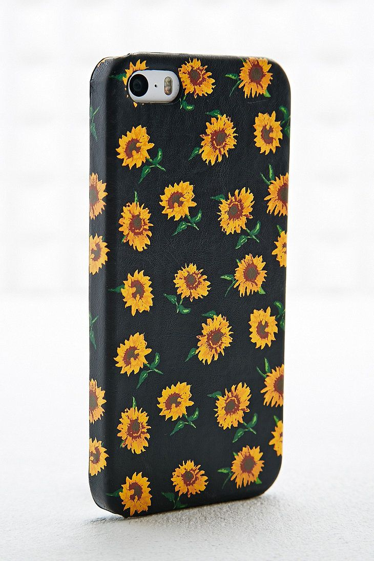 timeless design 6ad31 2bbe0 Sunflower iPhone 4/5 Case in Black   misc   Iphone 5 cases, Iphone ...