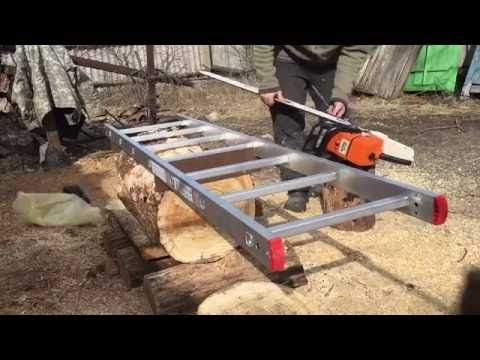 Homemade Alaskan Chainsaw Mill Youtube Projet