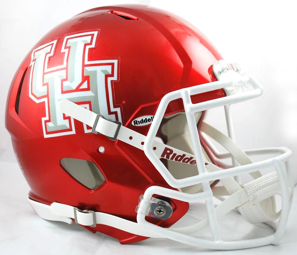 Houston Cougars Authentic Full Size Speed Helmet Matte White Football Helmets Houston Cougars College Football Helmets
