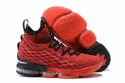 a6a01accf8e New Style Nike LeBron 15 Mens Basketball Shoes Sneakers University Red Black