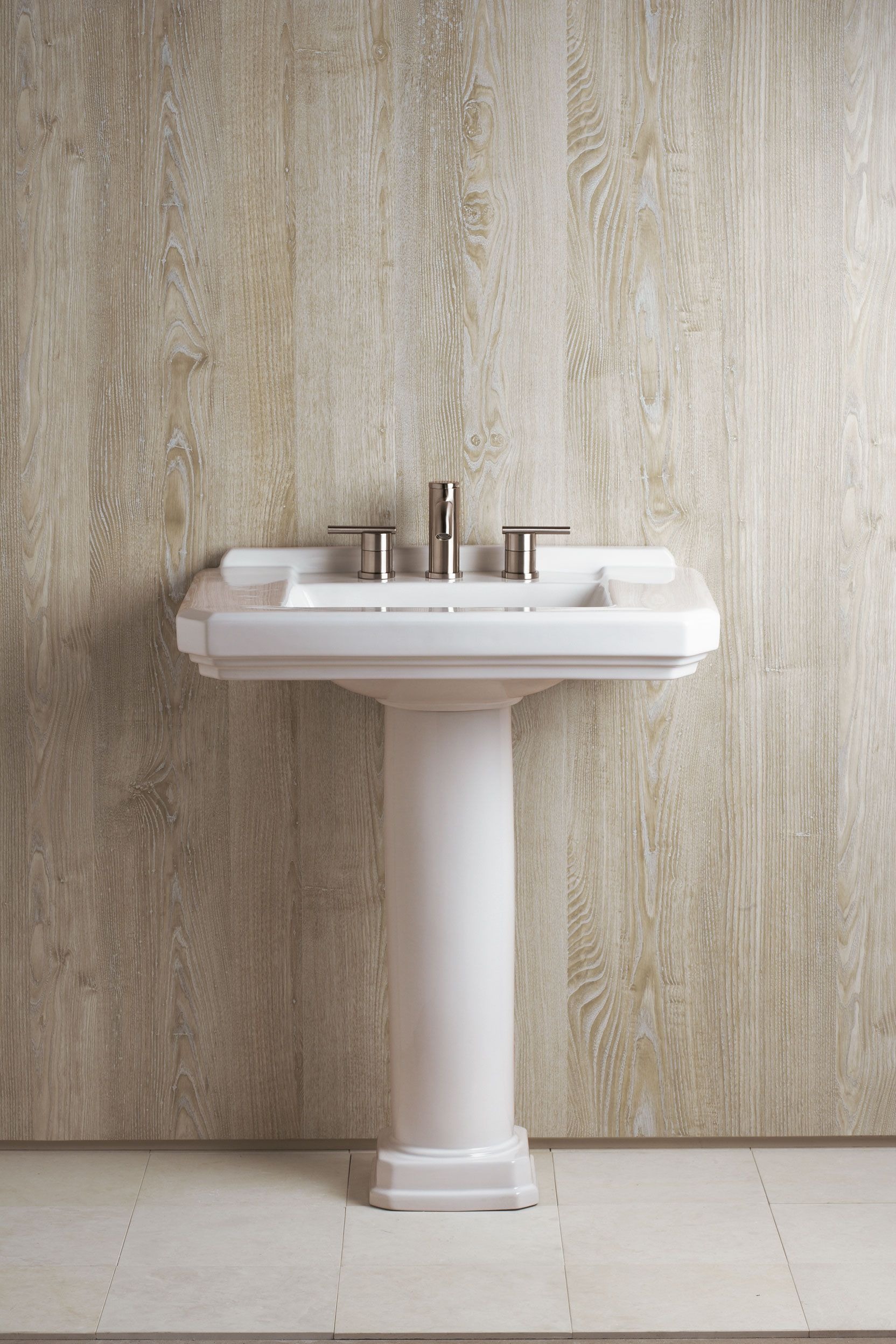 pedestal sink or vanity in small bathroom%0A Danze Cirtangular Pedestal Lavatory  u     Parma   handle bathroom faucet  transitional bathroom vanities and sink consoles