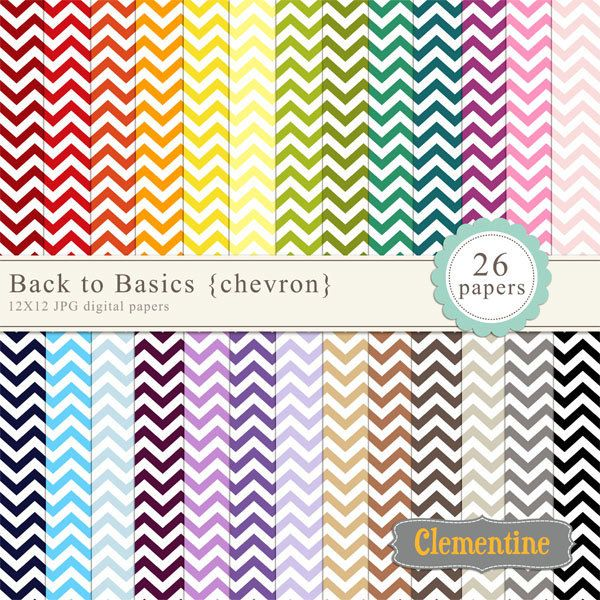 Chevron digital paper 12X12, digital scrapbooking paper, royalty free commercial use- BUY 2 GET 1 FREE. $5.00, via Etsy.