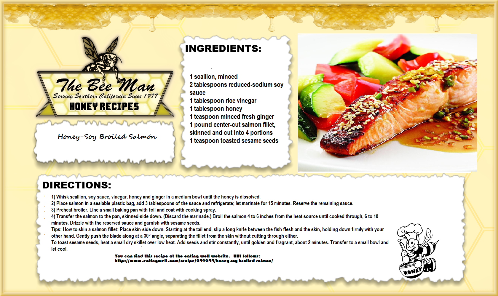 Happy Aloha Friday! Today's healthy honey recipe is Honey-Soy Broiled Salmon. (one of our favorites!) Serves 4
