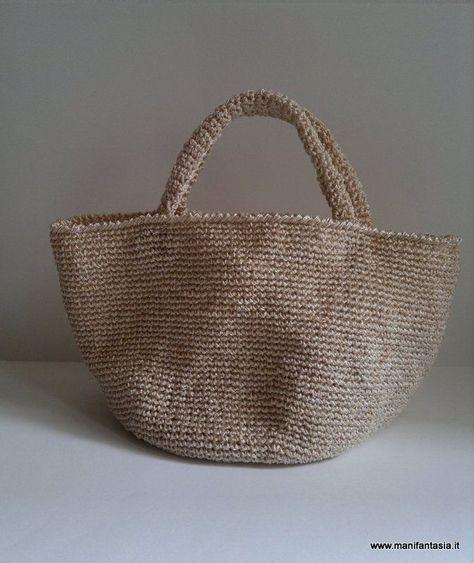Tutorial Schema Borsa Uncinetto Estiva Crochet Tasche Häkeln