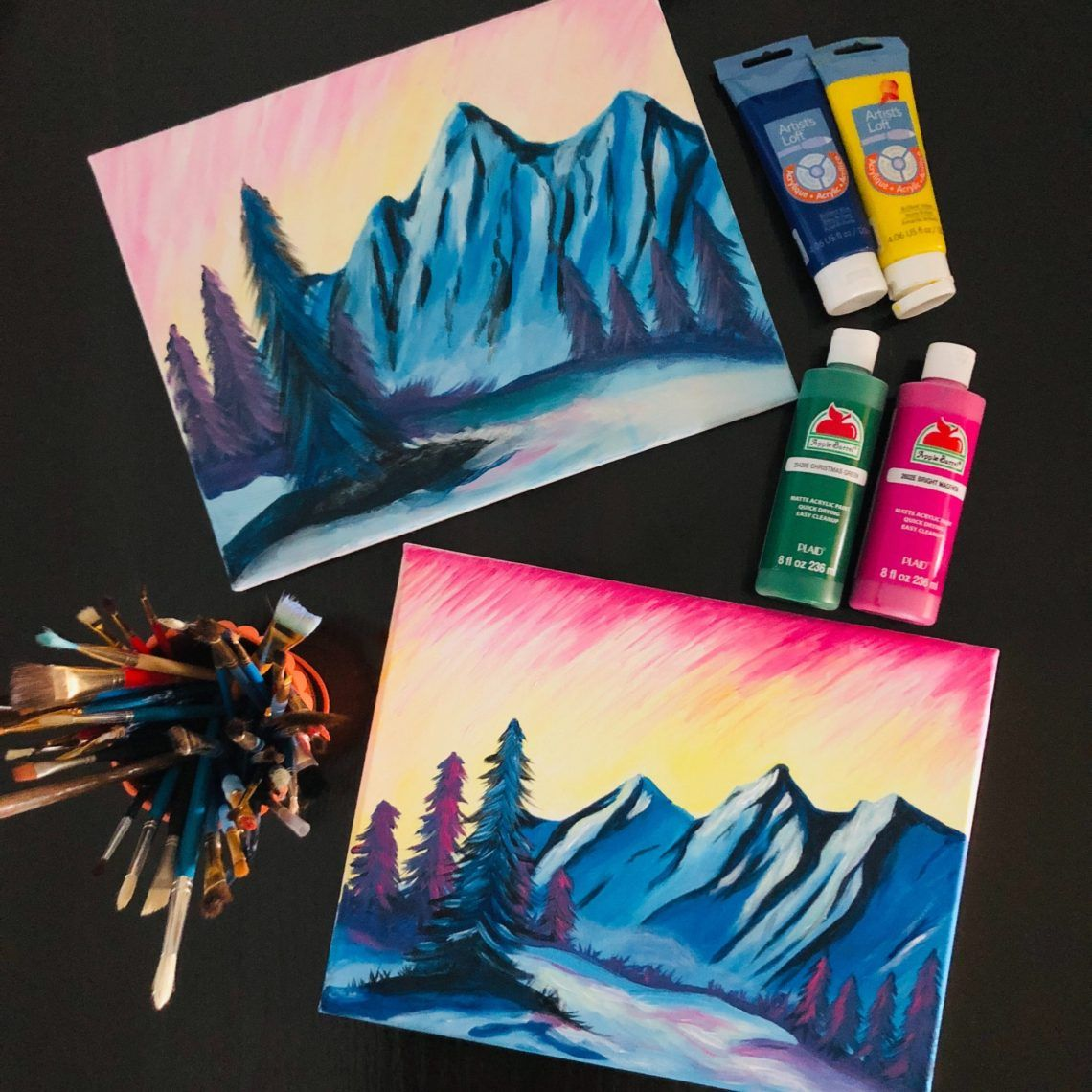 At Home Paint Night Date Cute date ideas, Romantic date