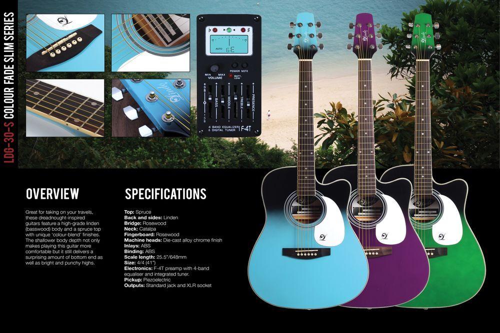 Lindo Slimline Zombie Electro Acoustic Guitar Catalogue Page Electro Acoustic Guitar Guitar Acoustic Guitar