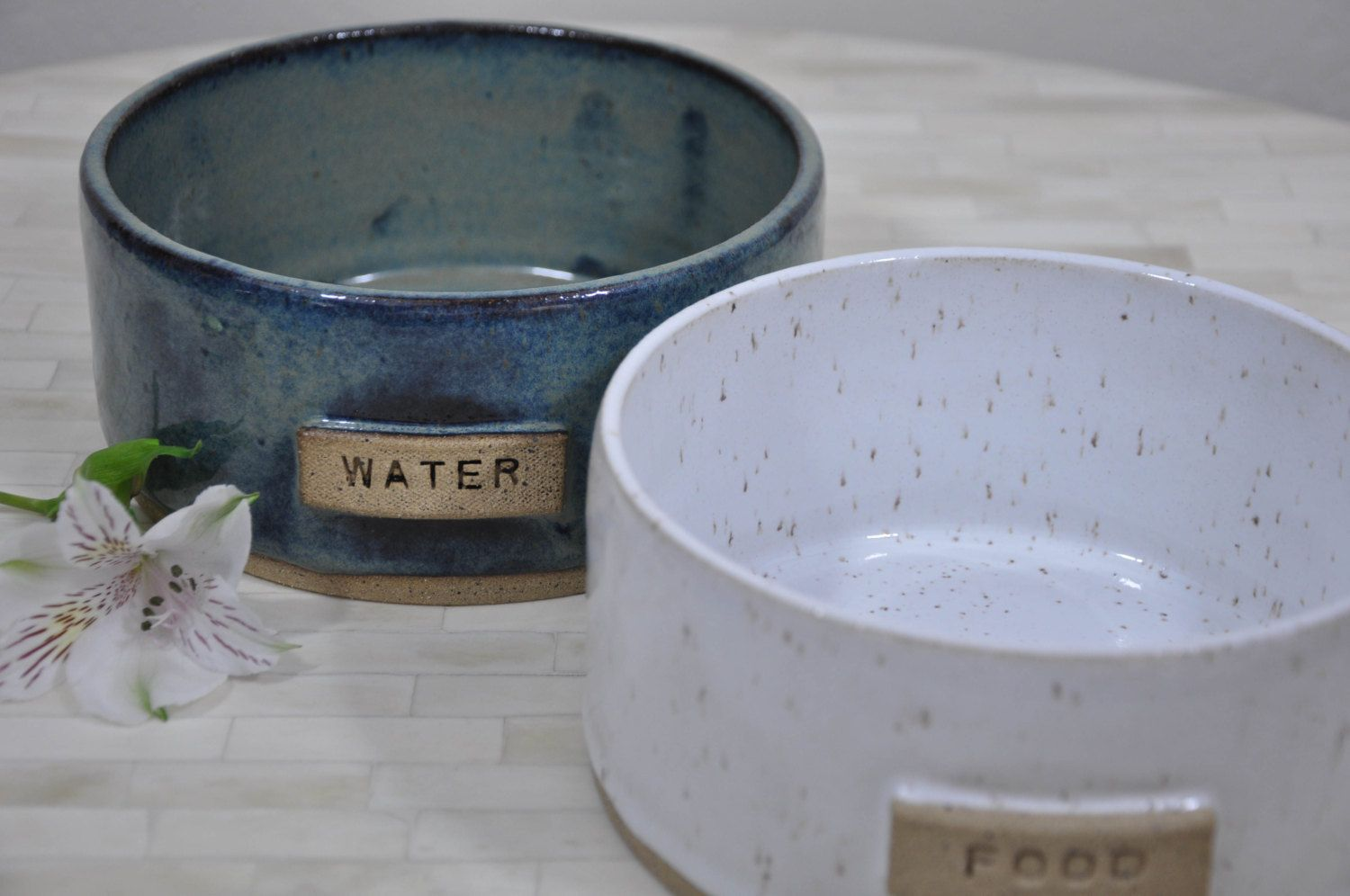 Pet Bowls Food Water Bowl Pottery Pet Bowls Dog Bowls Food