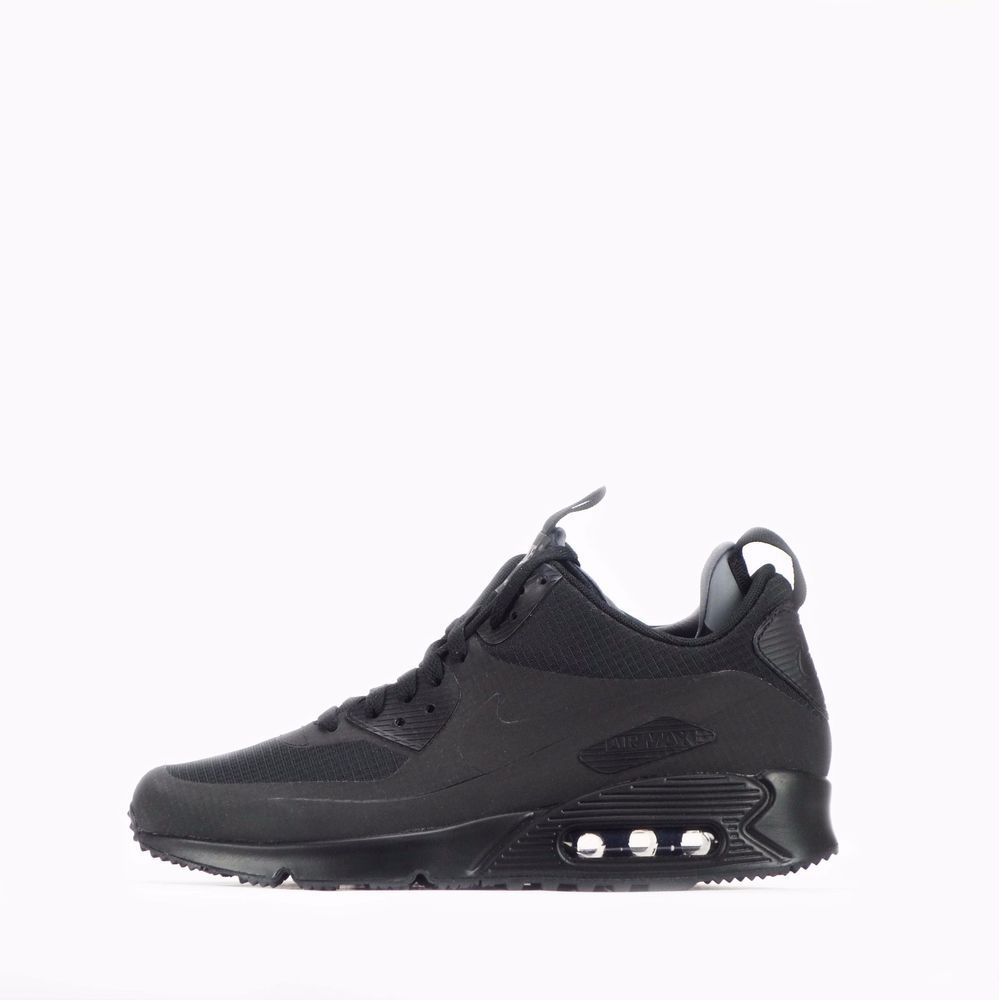 121b6e5a99 ... usa nike air max 90 mid winter mens shoes in black black nike  casualtrainers 24020 d6bd5