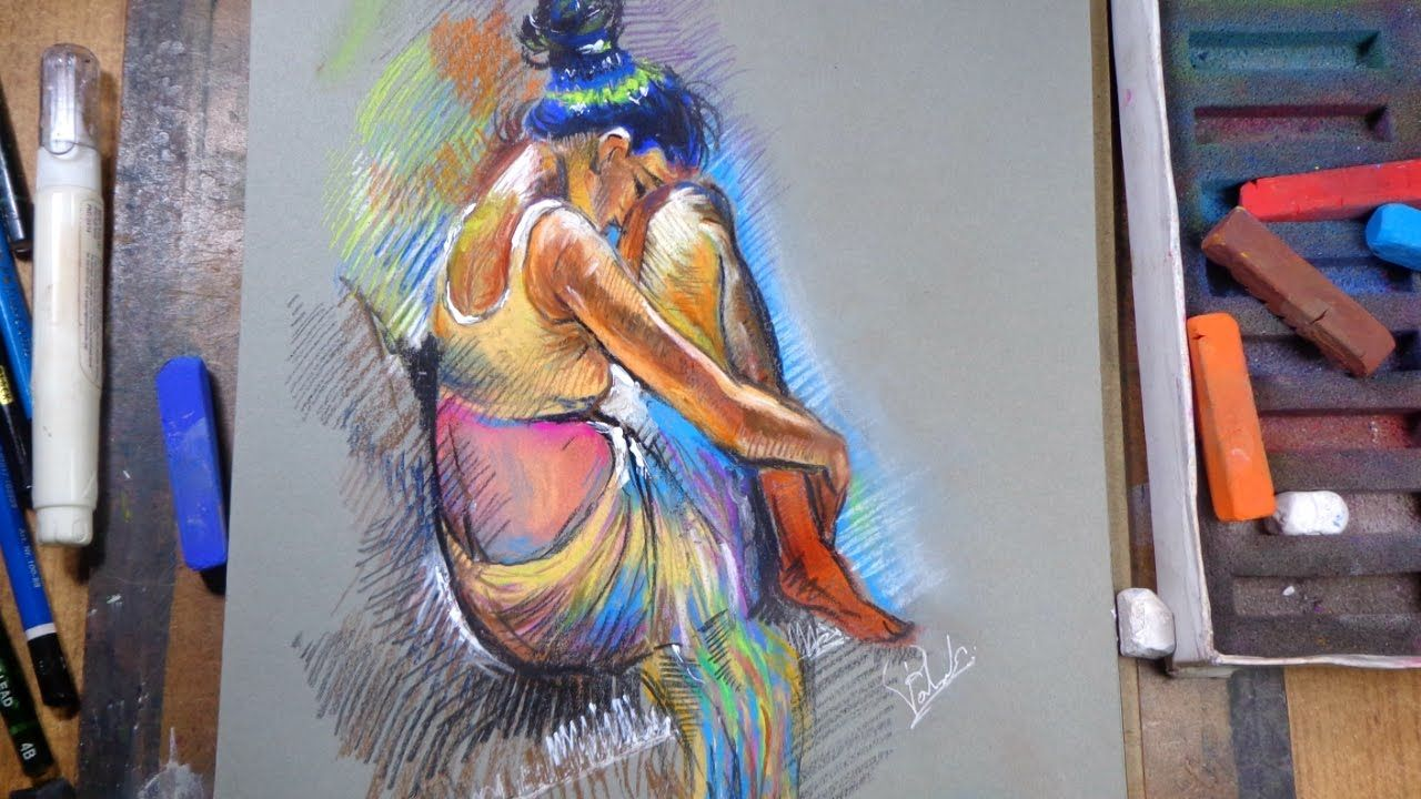 Draw girl soft pastel how to draw figure speed drawing
