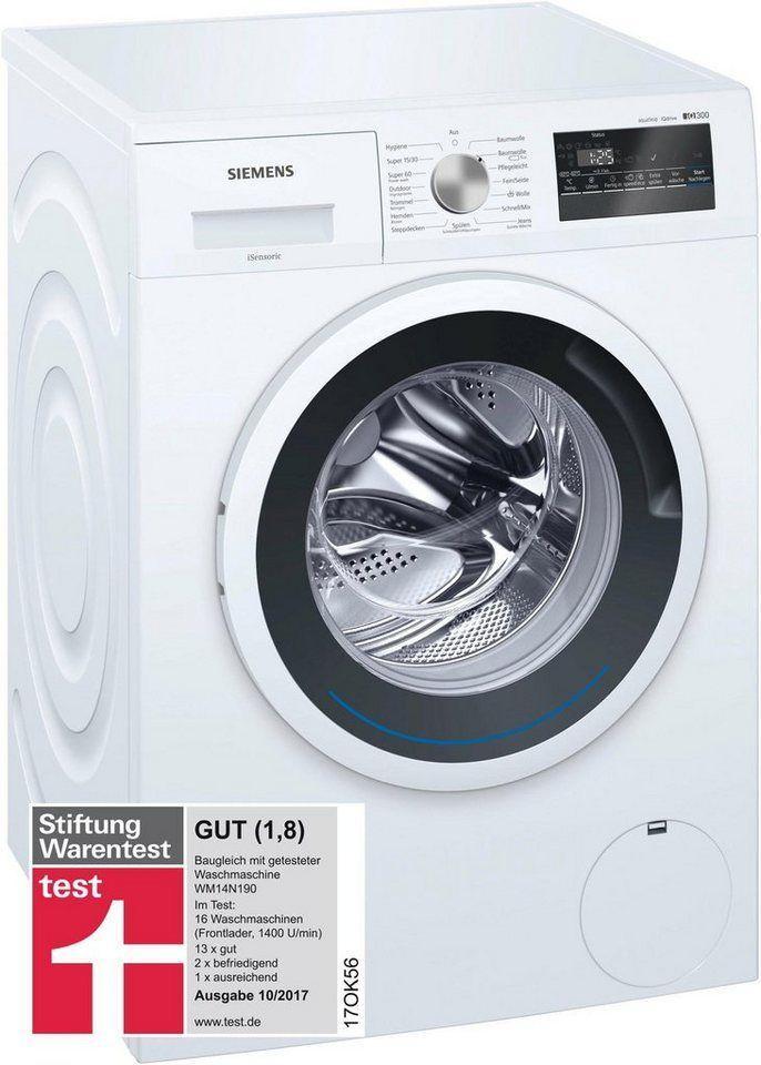 SIEMENS Waschmaschine iQ300 WM14N140, 6 kg, 1400 U/Min