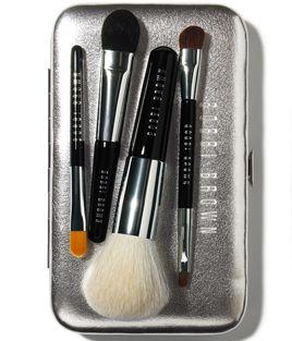 I use the travel set on myself - Mini makeup brush set from Bobbi Brown