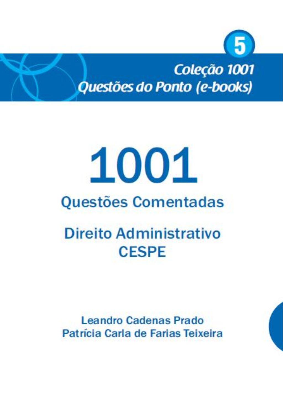 1001 Questoes Comentadas Direito Administrativo Cespe Leandro