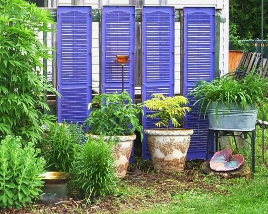 """Laura Wilke says, """"Upcycled shutters and purple spray paint - Fun ..."""