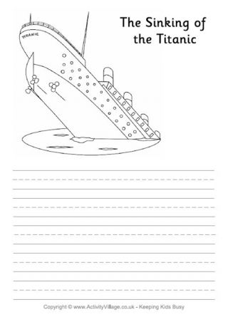 Titanic Research Worksheet Titanic Book Writing Tips Business For Kids