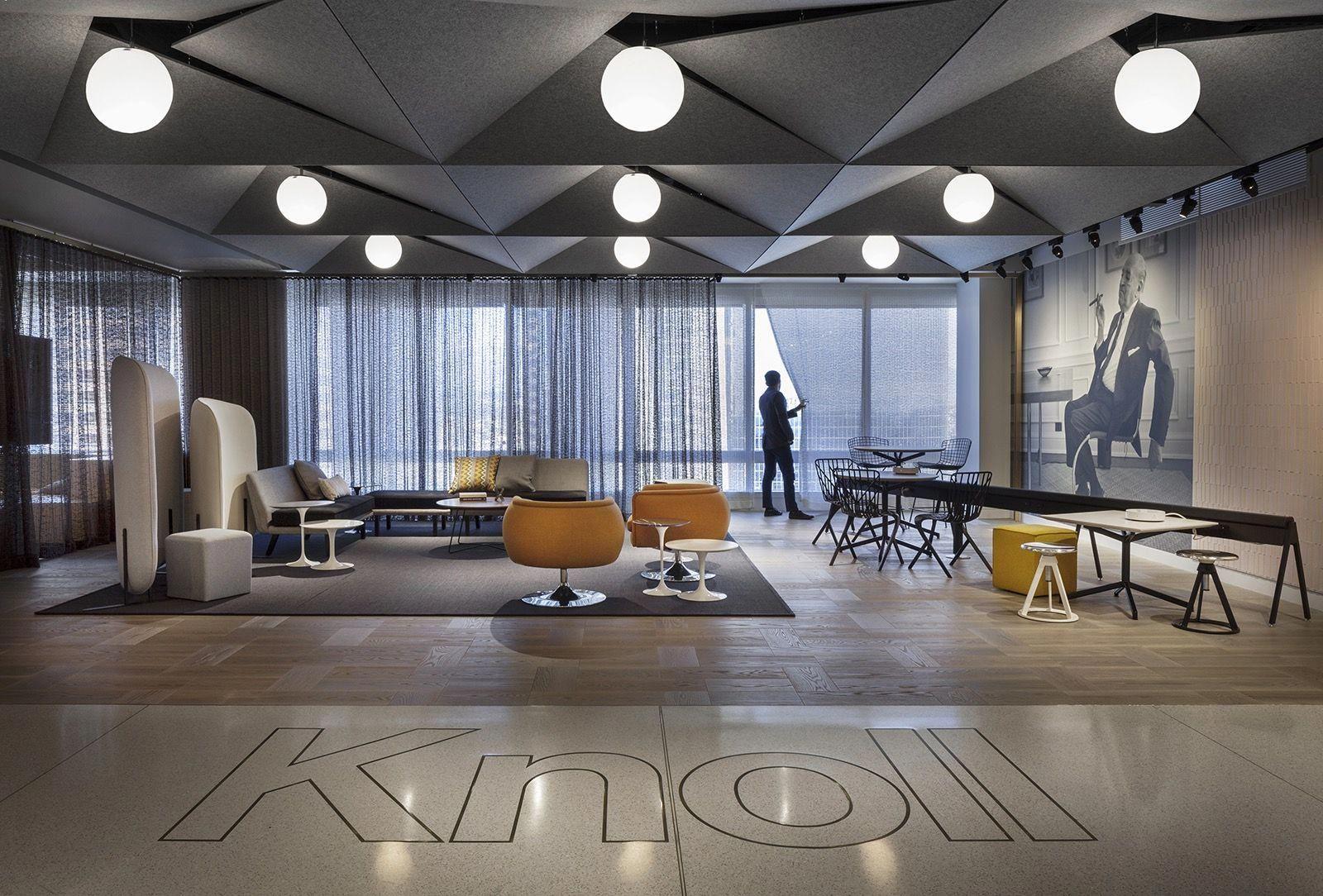 a tour of knoll s sleek new los angeles office officelovin rh pinterest com